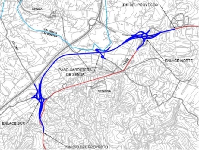 plan rondweg Benissa - N332