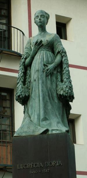 Standbeeld van Lucrecia Borgia in Gandia