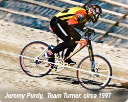 Jeremy Purdy riding the Mammoth Kamikaze on a Burner with DH rockers