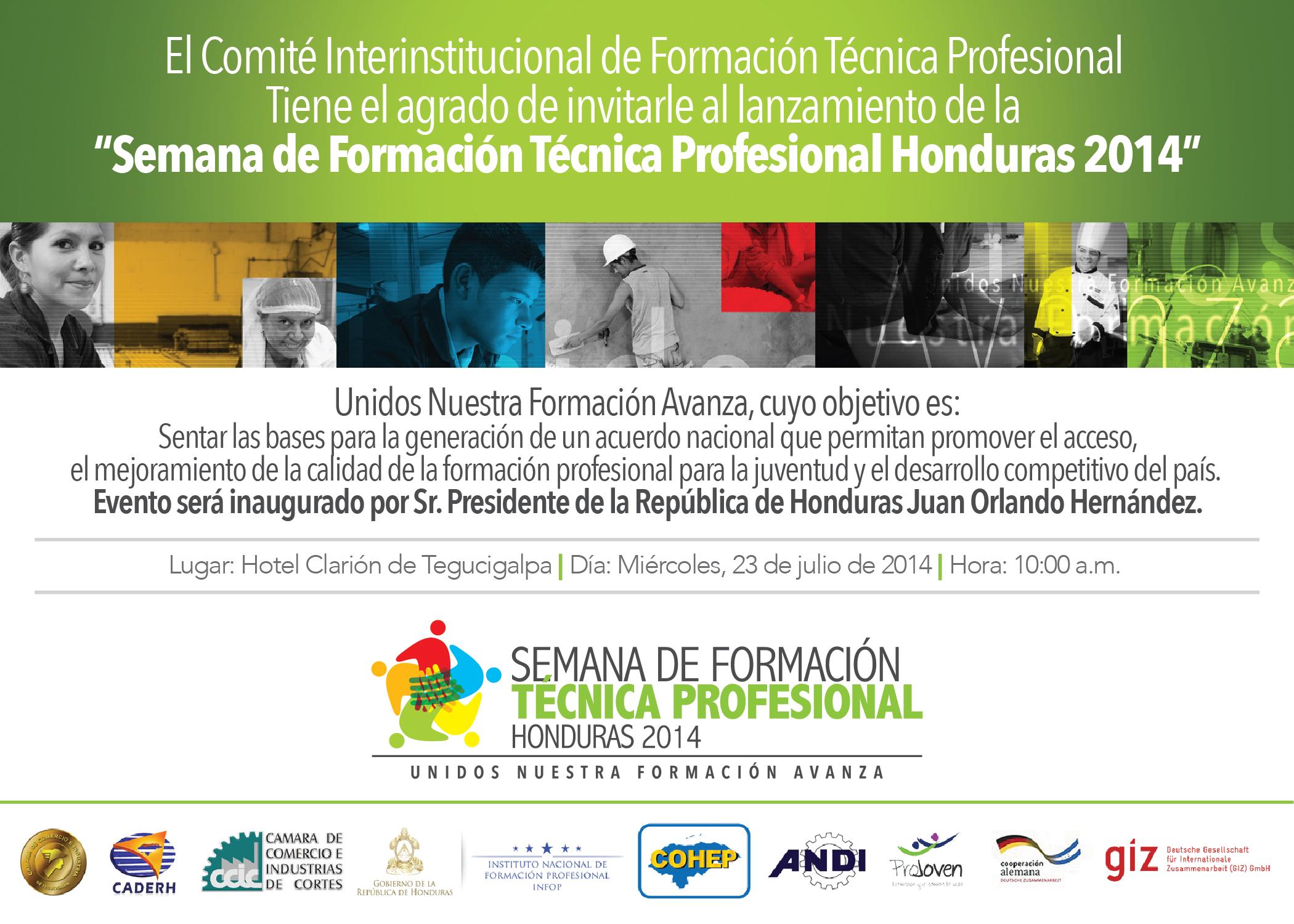 Semana de Formación Técnica Profesional Honduras 2014