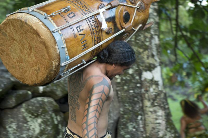 Marquesian drummer