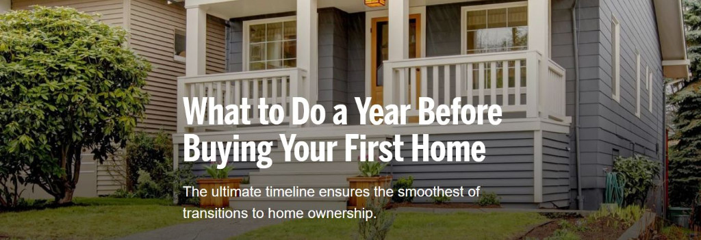 What to Do a Year Before Buying Your First Home