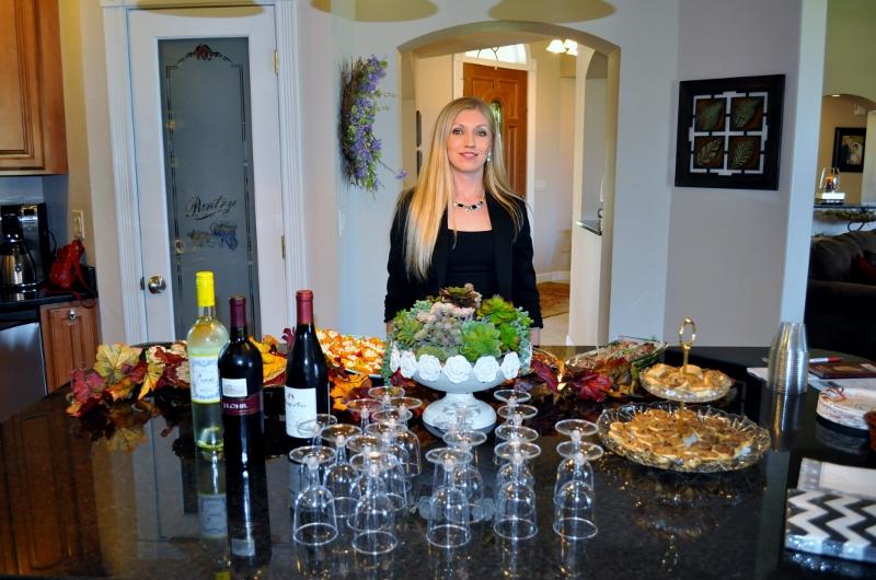 Gourmet wine tasting for Open House