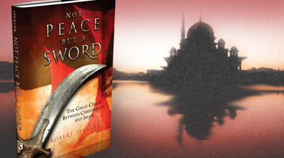 Image of  Robert Spencer's new book, Not Peace But a Sword: The Great Chasm Between Christianity and Islam.