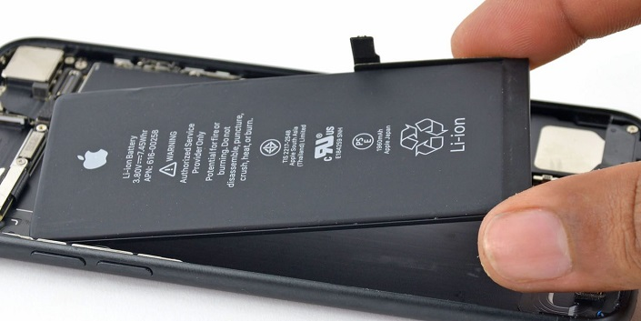 Removing battery from iPhone