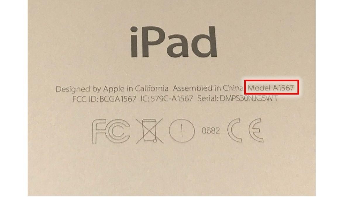 Back of iPad