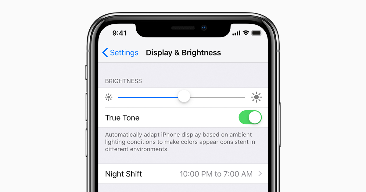 Adjusting screen brightness