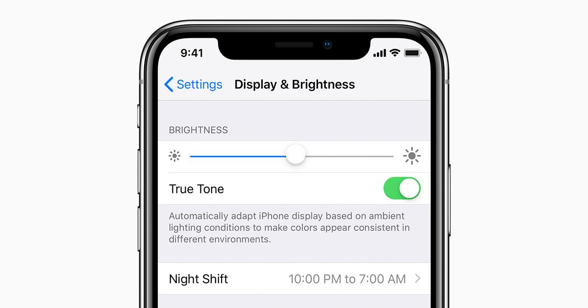 Adjusting screen brightness