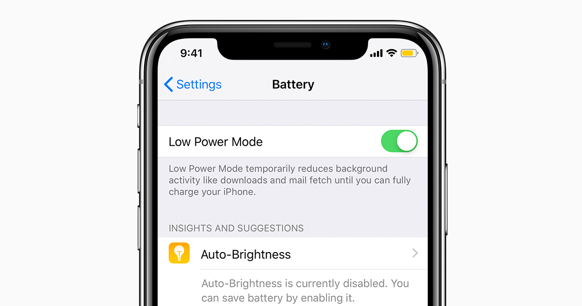 Switching to Low Power Mode