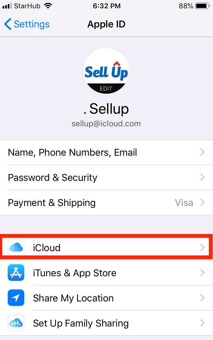 Tap iCloud Backup