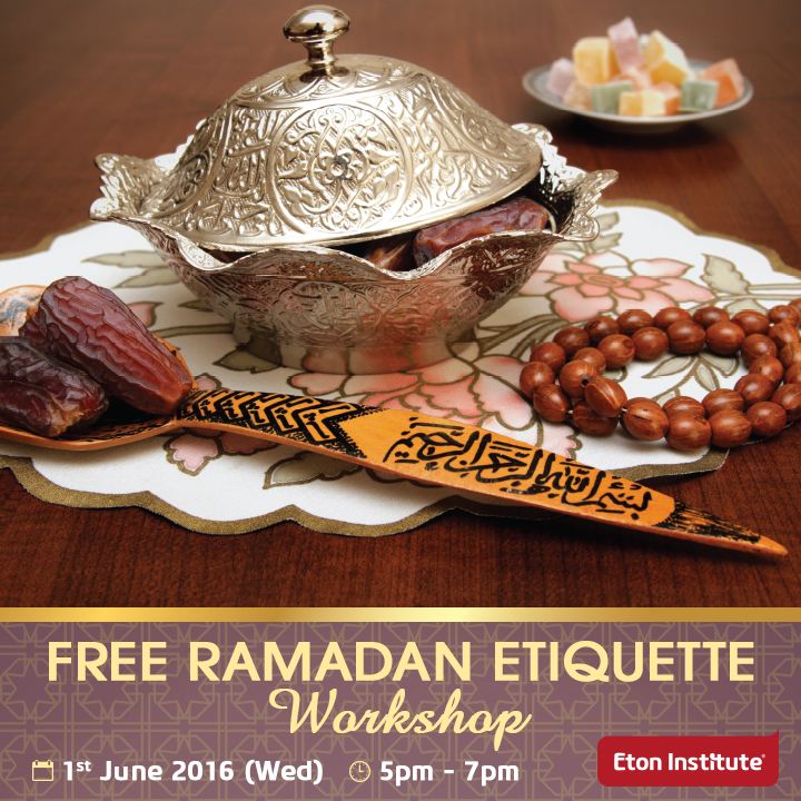 Free Ramadan Etiquette Workshop