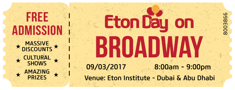Eton Day on Broadway