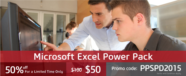 Power Pack Offer: Get Your Comprehensive MS Excel Training Today!