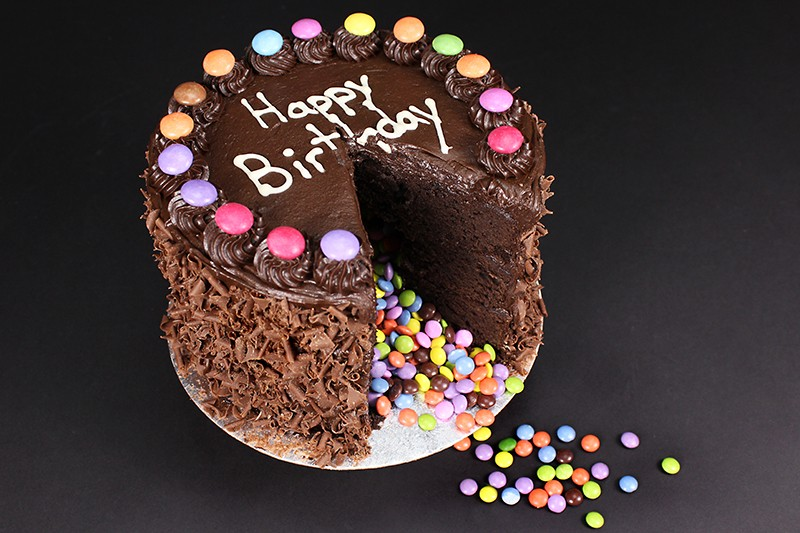 Smarties Surprise Indulgence Cake Image