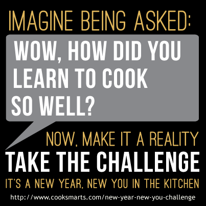 Imagine being asked: Wow, how did you learn to cook so well?