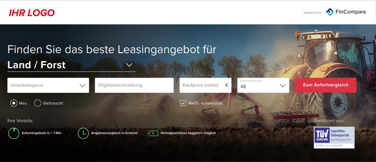 Finanzierungs-Kalkulator von Absatzfinanzierung24.de