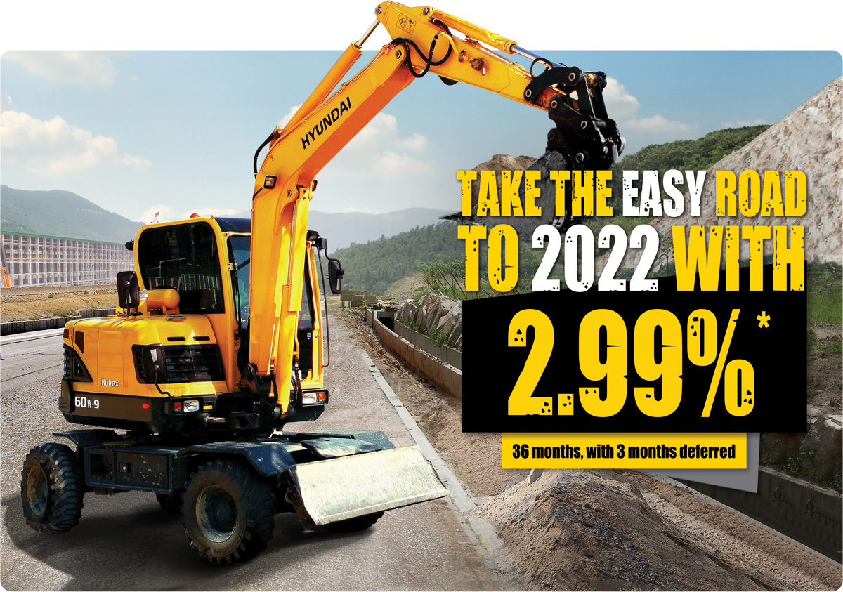 Excavator deal 2.99 percent finance