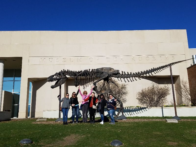 MT-SD Tour Group at Museum of the Rockies, Bozeman, MT with MTAS 2019