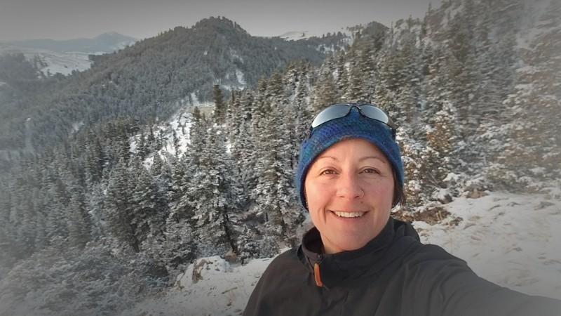 Sheila Cornwell and MTAS on College M Trail, Bozeman, MT