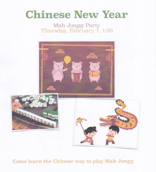 Chinese New Year Mah Jongg Party