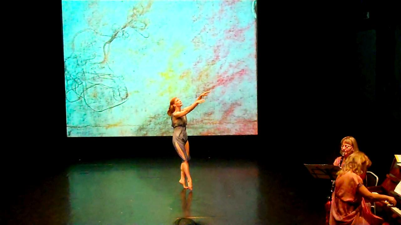 Meg Brooker performing the work of Isadora Duncan