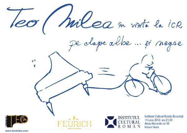 Afiş Teo Milea în vizită la ICR