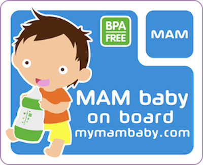 MAM Baby on Board car sticker