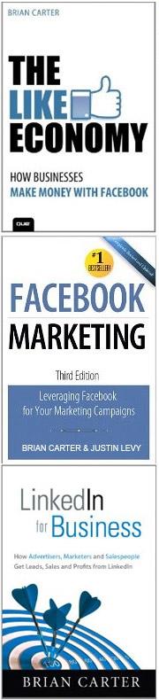 Brian Carters 3 bøker om Facebook og LinkedIn