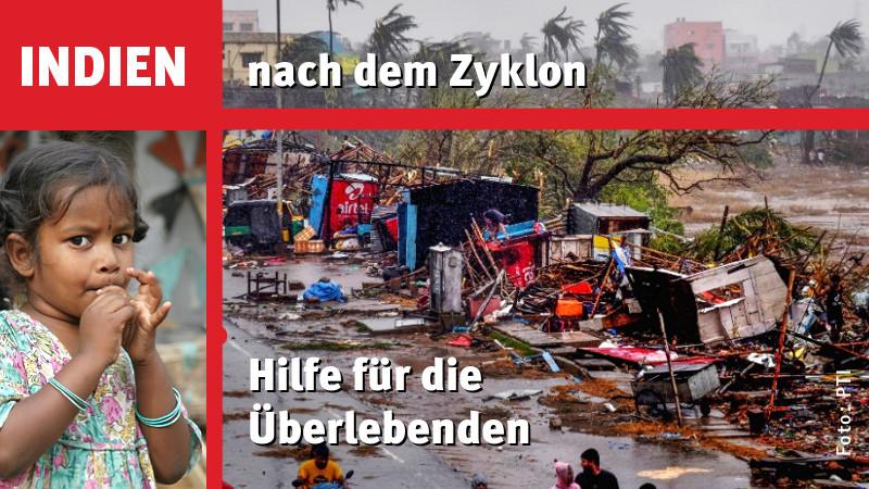 Schwerer Tropensturm in Indien: Jetzt helfen!