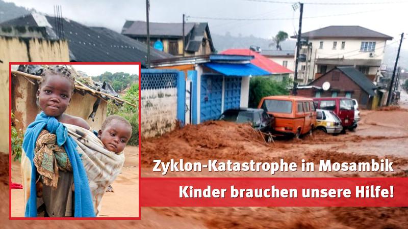 Zyklon-Katastrophe in Mosambik: Jetzt Kindern helfen!