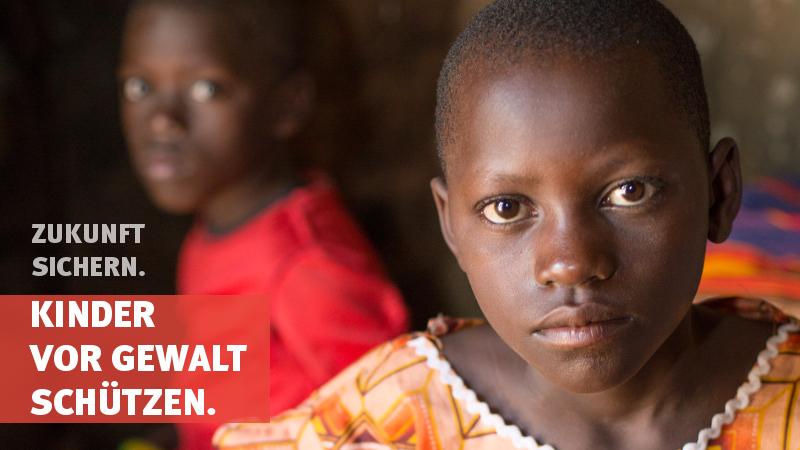 Zukunft sichern. Kinder vor Gewalt schützen.