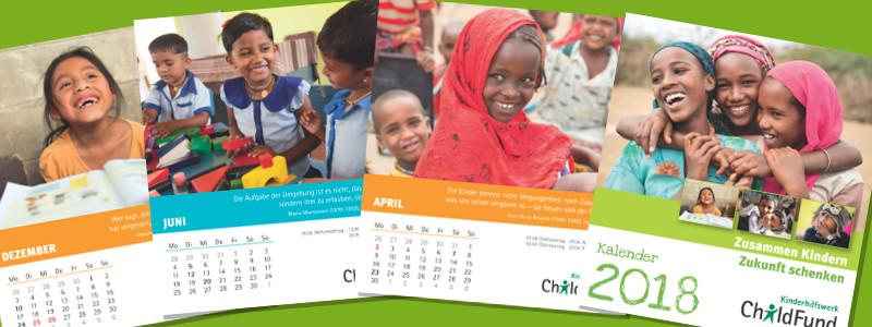 ChildFund Kalender 2018: Jetzt bestellen!