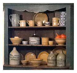 Yellowware Display