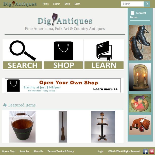 New Dig Antiques Website