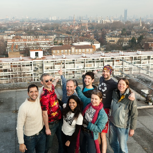 Brixton Pound team on the roof