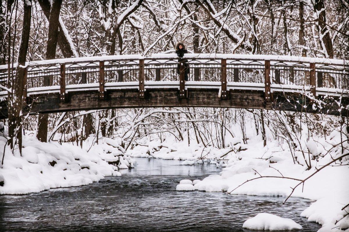 Winter on West Minnehaha Parkway Bridge