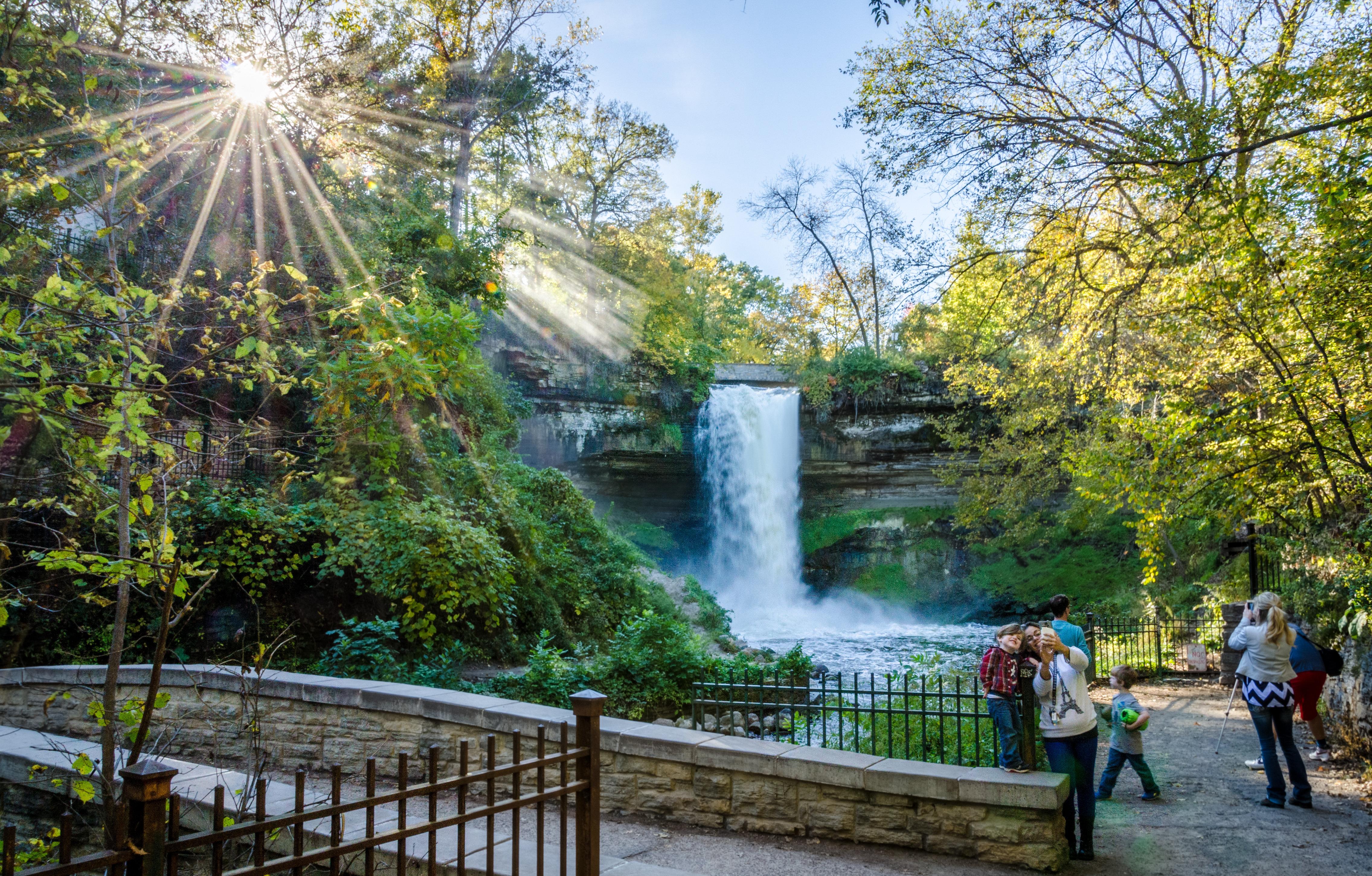 Fall at Minnehaha Falls