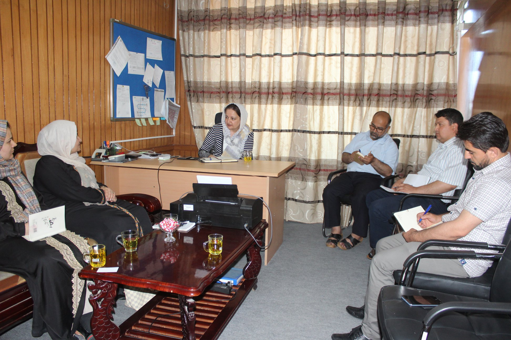 Seema Ghani meeting the Balkh Women's Chamber of Commerce Chairperson