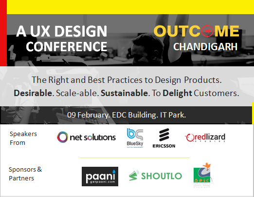 OUTCOME UX Design Conference Chandigarh by Vinish Garg