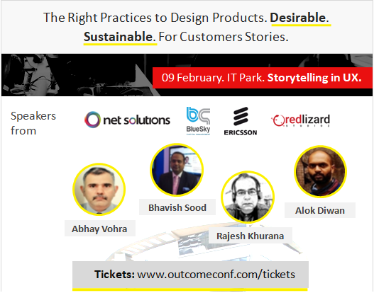 OUTCOME Product UX Design Conference Chandigarh, by Vinish Garg