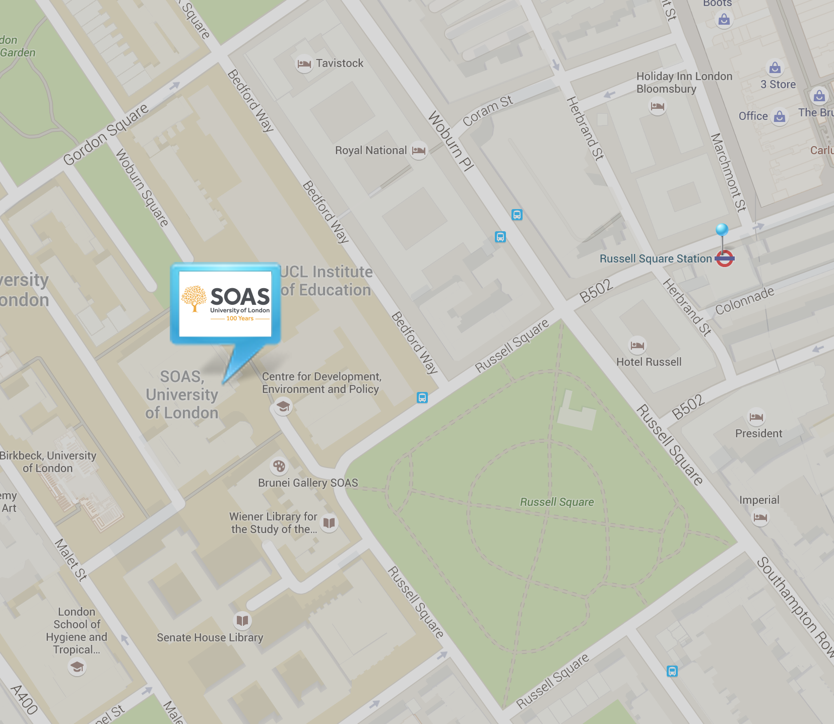 SOAS location