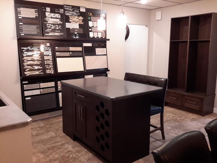 Selecting finishes and appliances for an RTM home.