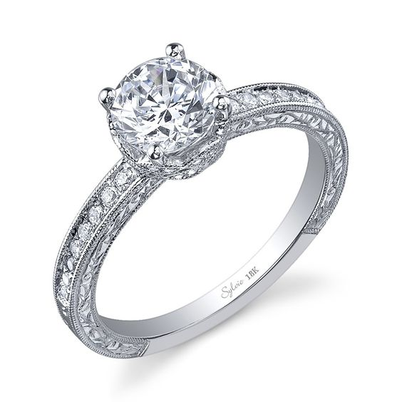 Vintage Inspired Sylvie Engagement Ring