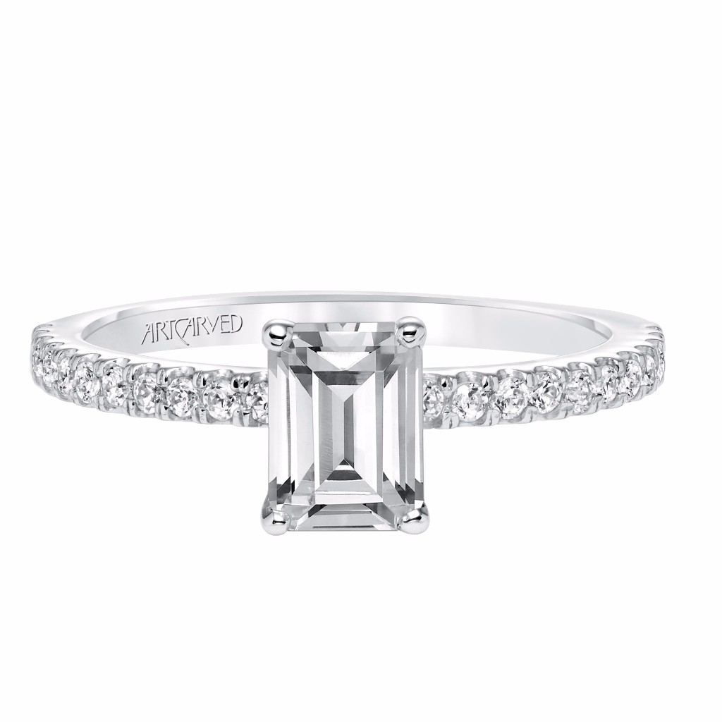 Artcarved Emerald Cut Diamond Ring