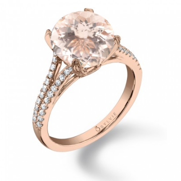 Rose Gold Engagement Ring with Morganite