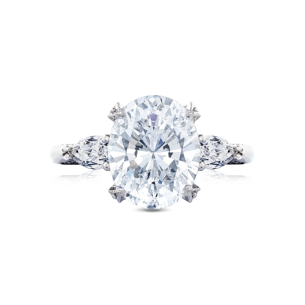 Tacori Oval Three stone engagement ring