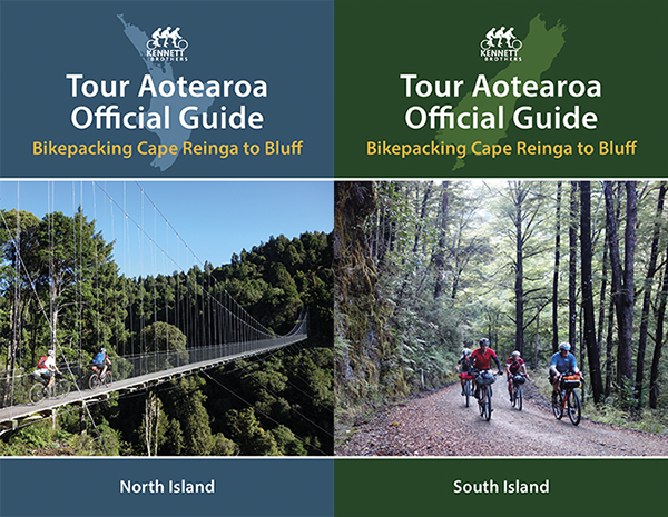 Cover images of the two Tour Aotearoa guidebooks