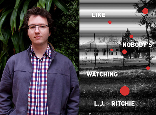Author photo of L.J. Ritchie and the cover of Like Nobody's Watching