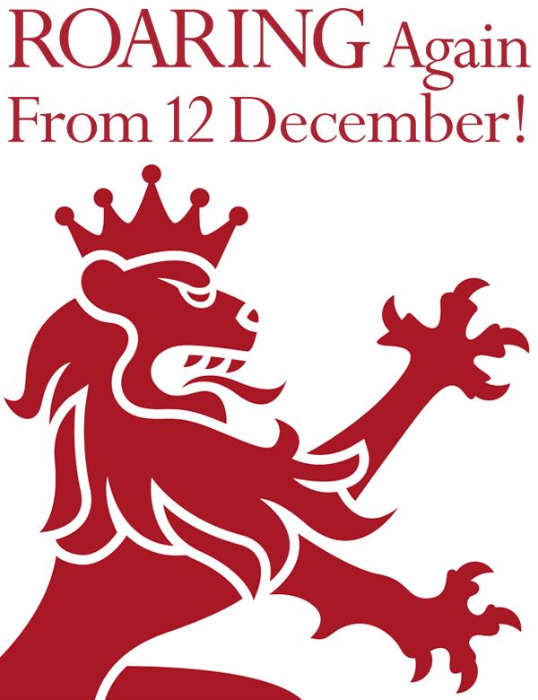 ROARING Again From 12 December