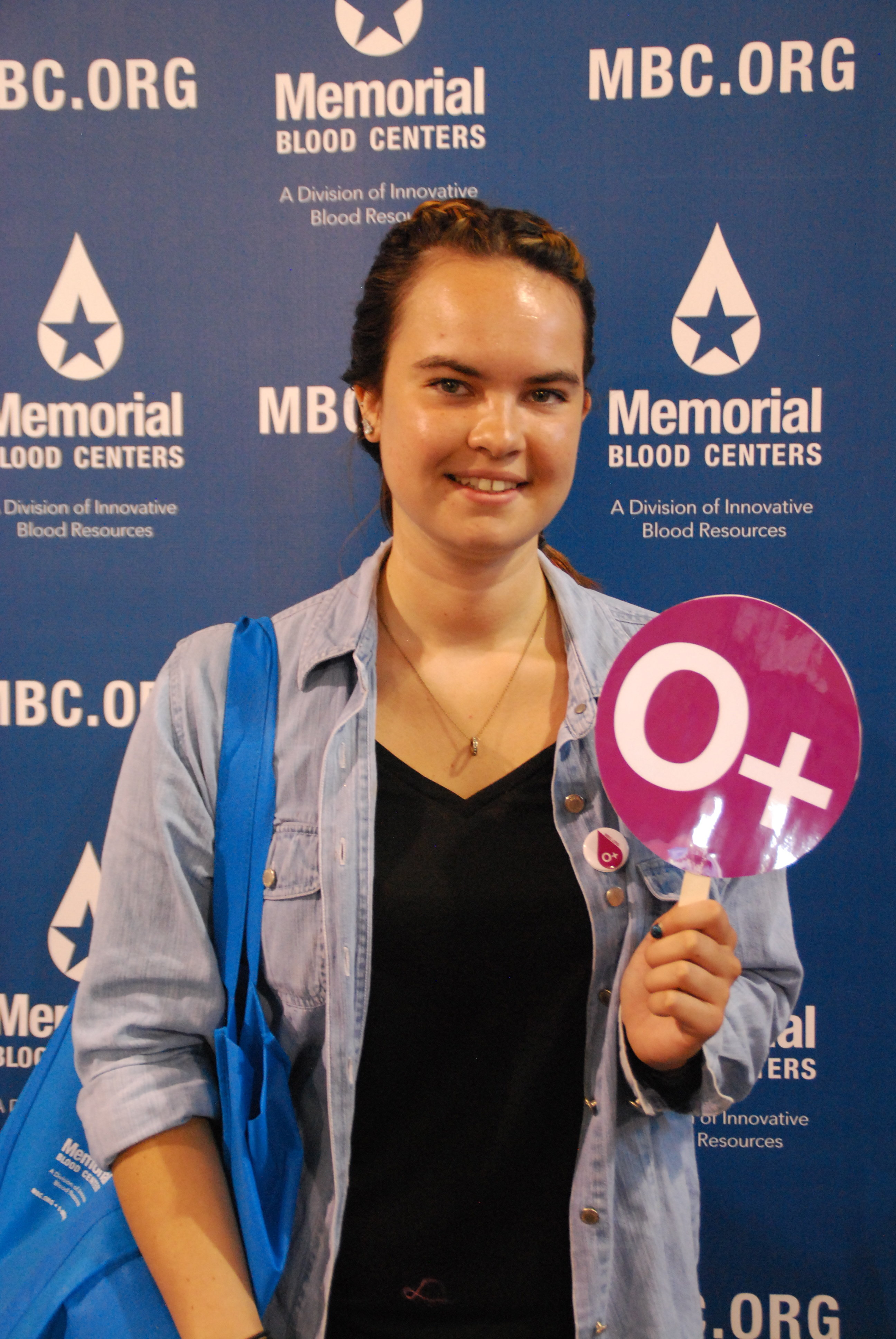 Erin, the 60,000th visitor to MBC's booth at the MN State Fair